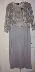 Gray formal dress